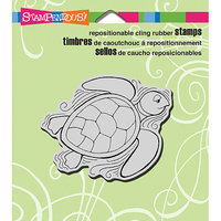 Stampendous Cling Rubber Stamp 3.5inX4in Sheet-Penpattern Turtle
