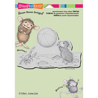 Stampendous HMCP14 Stampendous House Mouse Cling Rubber Stamp 5.5 in. x 4.5 in. Sheet-Beach Toss