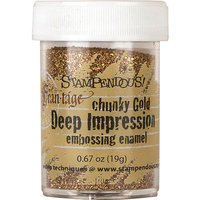 Stampendous Deep Impression Embossing Enamel .63Oz -Chunky Gold