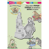 Stampendous Gruffies Cling Rubber Stamp 5.5inX4.5in SheetStacked Gifts