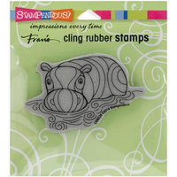 Stampendous Cling Rubber Stamp 4.75X4.5 Pkg-Penpattern Hippo