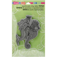 Stampendous Cling Rubber Stamp 7.75X4.5 Pkg-Seahorse Ride