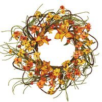Oddity, Inc. Fall Tiger Lilly Tendril Ropes Candle Ring (Set of 2)