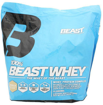 Beast Sports Nutrition, 100% Whey Vanilla 10 lb