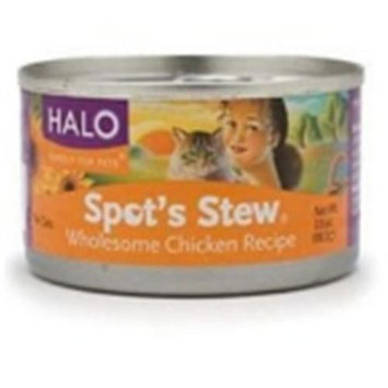 Halo Purely For Pets 51538 Halo Cat Chicken Spots Stew- 12x5.5 OZ