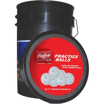 Rawlings Sports 30 Plastic Baseballs Bucket
