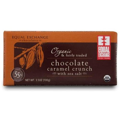 Equal Exchange Caramel Crunch W/Sea Salt Chocolate Bar 3. 5 Oz -Pack of 12