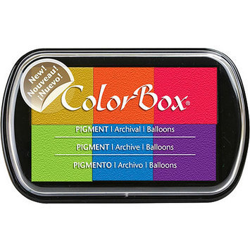 Clearsnap 190-22 ColorBox Pigment Ink Pad 6 Colors-Balloons