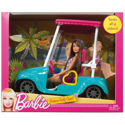 Mattel Barbie Sisters Golf Cart and Skipper Doll Set