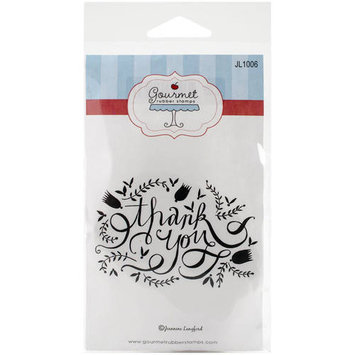 Gourmet Rubber Stamps Cling Stamps 3.25inX6.5in Thank You Flourish