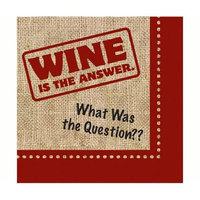 Evergreen Enterprises EG4NC915 Wine Is the Answer Paper Cocktail Napkin