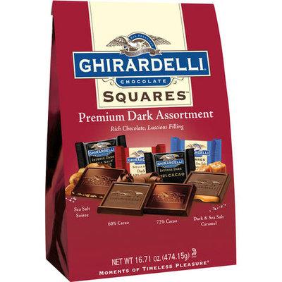 Ghirardelli Chocolate Squares Premium Dark Assortment Sea Salt, 60% Cacao, 72% Cacao, Dark And Sea Salt Caremal