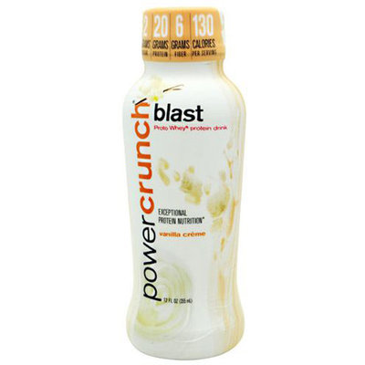 Lone Star Distribution BioNutritional Power Crunch Blast Vanilla Creme 12 ct 12 oz - POWCPOWR0012VANILQ
