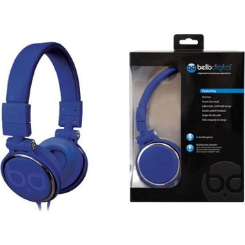 Bello Over-the-head Headphones - Stereo - Blue - Mini-phone - Wired - Gold Plated - Over-the-head - Binaural - Circumaural (bdh806bl)