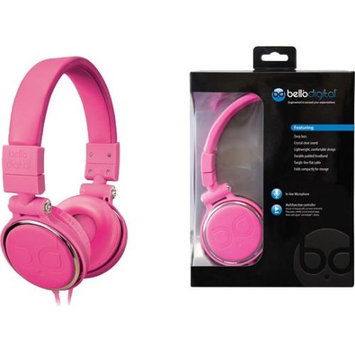 Bello Over-the-head Headphones - Stereo - Pink - Mini-phone - Wired - Gold Plated - Over-the-head - Binaural - Circumaural (bdh806pi)