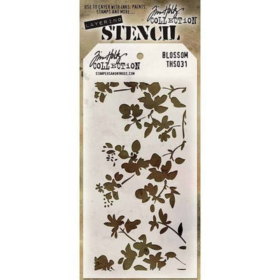 Stampers Anonymous Tim Holtz Layered Stencil 4.125inX8.5in Bricked