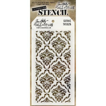 Stampers Anonymous THS-026 Tim Holtz Layered Stencil 4.125X8.5-Gothic