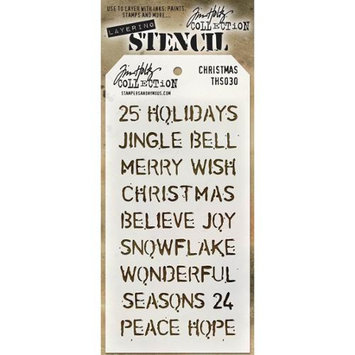 Stampers Anonymous THS-030 Tim Holtz Layered Stencil 4.125X8.5-Christmas