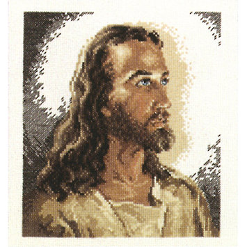 Janlynn Portrait Of Christ Counted Cross Stitch Kit-6-7/8 X7-3/4 14 Count