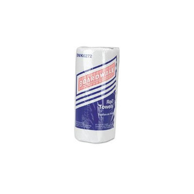 Boardwalk Paper Towel Rolls, Perforated, 2-Ply, White, 85 Sheets/Roll