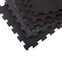 Supermats Inc SuperLock Heavy Duty Interlocking Rubber Flooring - 6 Pieces