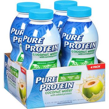 Worldwide Sports Nutrition Pure Protein Coconut Water Original Coconut 4 Bottles