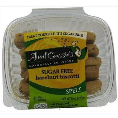 Aunt Gussies, Biscotti Sf Spelt Hazelnu, 8-Ounce (8 Pack)