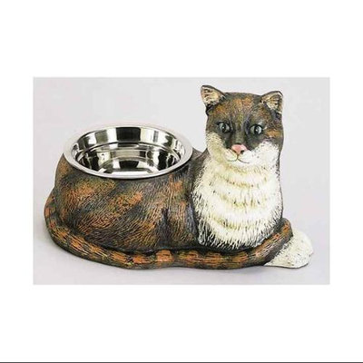 AA Importing 13513 - Cat Food Bowl Pet Bowl Painted Cast Iron