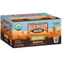 High Desert Roasters Organic Rainforest Medium Roast Coffee (80 K-Cups)