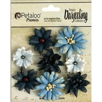 Petaloo Darjeeling Teastained Mini Mix Flowers .75