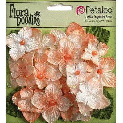 Petaloo Flora Doodles Velvet Hydrangeas 22/Pkg-Canary Yellow