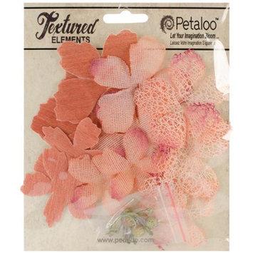 Petaloo Mixed Textured Layers 12/Pkg-Apricot