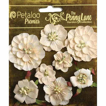 Regal Imports, Inc. Penny Lane Mixed Blossoms 8/Pkg Antique Red