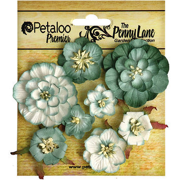 Petaloo Penny Lane Mixed Blossoms 8/Pkg-Black