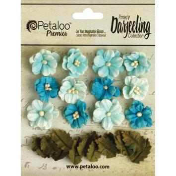 Petaloo Darjeeling Teastained Petite Flowers .625
