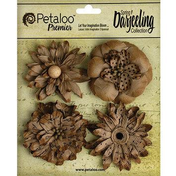 Petaloo Darjeeling Paper Wild Blossoms 2.25 To 2.5 4/Pkg-Craft Brown