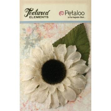 Petaloo Textured Elements Burlap Sunflower 5