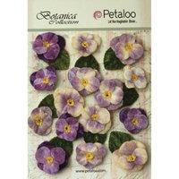 Petaloo Botanica Vintage Velvet Pansies 1in To 1.5in 15/Pkg Lavender/Purple
