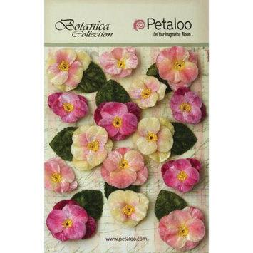 Petaloo Botanica Vintage Velvet Pansies 1in To 1.5in 15/Pkg Mauve