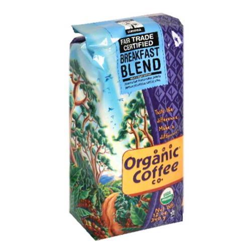 Organic Coffee Company - Breakfast Blend Whole Bean Coffee - 12 oz.