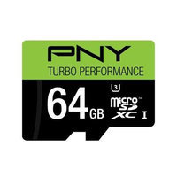 Pny Turbo Performance 64GB Microsd Extended Capacity [microsdxc] - Class 10/uhs-i [u3] - 90 Mbps Read - 90 Mbps Write (p-sdux64u390g-ge)