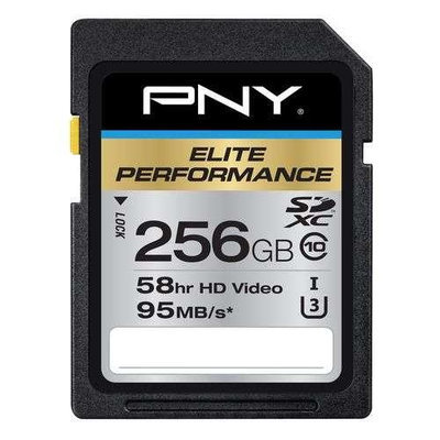 Pny Elite Performance 256GB Secure Digital Extended Capacity [sdxc] - Class 10/uhs-i [u3] - 95 Mbps Read (p-sdx256u395-ge)