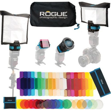 ExpoImaging Rogue FlashBender 2 Portable Lighting Kit, Includes Small & Large Reflector, Small & Large Diffusion Panel, Flash Gel Combo Filter Kit, Travel Bag