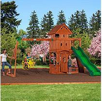 Leisure Time Products Monterey Cedar Swing Set-DSV