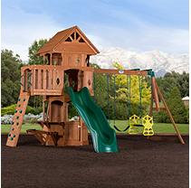 Leisure Time Products Woodland Cedar Swingset