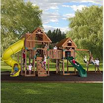 Leisure Time Products Backyard Odyssey Reno Cedar Playset with Installation