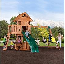Leisure Time Products Woodland Cedar Play/Swingset with Professional Installation