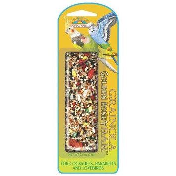 Vitakraft Sun Seed Company BSS85123 Small Hookbills Grainola Bird Honey Sticks Treat Bar, 2.5-Ounce, Golden Honey
