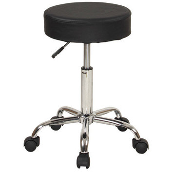 Sierracomfort Relief Adjustable Stool with Wheels and Metal Frame