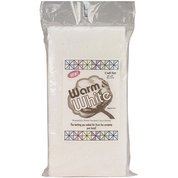 Warm Company Batting 223160 Warm & White Cotton Batting-Craft Size 34 in. x 45 in.